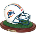 Miami Dolphins NFL Football Helmet Figurine