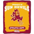 "Arizona State Sun Devils College ""Property of"" 50"" x 60"" Micro Raschel Throw"