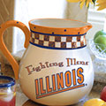"Illinois Illini NCAA College 14"" Gameday Ceramic Chip and Dip Platter"