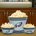 Philadelphia Eagles NFL Melamine 3 Bowl Serving Set