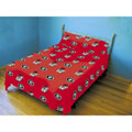 Georgia Bulldogs 100% Cotton Sateen Queen Sheet Set - Red