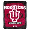 "Indiana Hoosiers College ""Property of"" 50"" x 60"" Micro Raschel Throw"