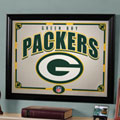 Green Bay Packers NFL Framed Glass Mirror