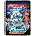 "Miami Dolphins NFL ""Home Field Advantage"" 48"" x 60"" Tapestry Throw"