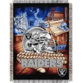 "Oakland Raiders NFL ""Home Field Advantage"" 48"" x 60"" Tapestry Throw"