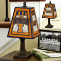 Illinois Illini NCAA College Art Glass Table Lamp