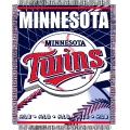 "Minnesota Twins MLB 48""x 60"" Triple Woven Jacquard Throw"