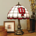 Indiana Hoosiers NCAA College Stained Glass Tiffany Table Lamp