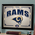 St. Louis Rams NFL Framed Glass Mirror