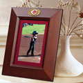 "Cincinnati Reds MLB 10"" x 8"" Brown Vertical Picture Frame"