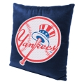 "New York Yankees MLB 16"" Embroidered Plush Pillow with Applique"