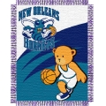 "New Orleans Hornets NBA Baby 36"" x 46"" Triple Woven Jacquard Throw"