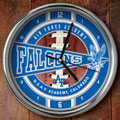 "Air Force Falcons US Military 12"" Chrome Wall Clock"
