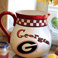 "Georgia UGA Bulldogs NCAA College 14"" Gameday Ceramic Chip and Dip Platter"