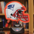 New England Patriots NFL Neon Helmet Table Lamp