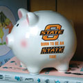 Oklahoma State Cowboys NCAA College Ceramic Piggy Bank