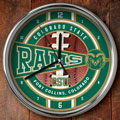 "Colorado State Rams NCAA College 12"" Chrome Wall Clock"