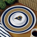 "St. Louis Rams NFL 14"" Round Melamine Chip and Dip Bowl"