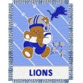"Detroit Lions NFL Baby 36"" x 46"" Triple Woven Jacquard Throw"