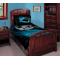 "Carolina Panthers NFL Twin Comforter Set 63"" x 86"""