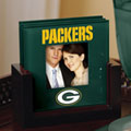 Green Bay Packers NFL Art Glass Photo Frame Coaster Set