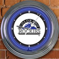 "Colorado Rockies MLB 15"" Neon Wall Clock"