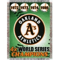 "Oakland Athletics MLB ""Commemorative"" 48"" x 60"" Tapestry Throw"