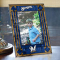 "Milwaukee Brewers MLB 9"" x 6.5"" Vertical Art-Glass Frame"