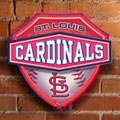 St. Louis Cardinals MLB Neon Shield Wall Lamp