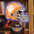 Clemson Tigers NCAA College Neon Helmet Table Lamp