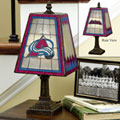 Colorado Avalanche NHL Art Glass Table Lamp