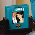 Jacksonville Jaguars NFL Art Glass Photo Frame Coaster Set