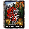 "Cincinnati Bengals NFL ""Home Field Advantage"" 48"" x 60"" Tapestry Throw"