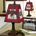 Georgia UGA Bulldogs NCAA College Art Glass Table Lamp