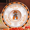 "Oklahoma State Cowboys NCAA College 14"" Ceramic Chip and Dip Tray"