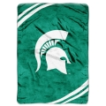 "Michigan State Spartans College ""Force"" 60"" x 80"" Super Plush Throw"
