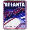 "Atlanta Braves MLB 48""x 60"" Triple Woven Jacquard Throw"