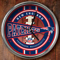"New England Patriots NFL 12"" Chrome Wall Clock"