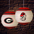 "Georgia UGA Bulldogs NCAA College 18"" Rice Paper Lamp"