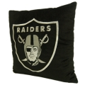 "Oakland Raiders NFL 16"" Embroidered Plush Pillow with Applique"