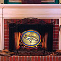 Denver Broncos NFL Stained Glass Fireplace Screen