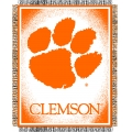 "Clemson Tigers NCAA College ""Focus"" 48"" x 60"" Triple Woven Jacquard Throw"