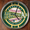 "Oakland Athletics MLB 12"" Chrome Wall Clock"