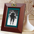 "San Jose Sharks NHL 10"" x 8"" Brown Vertical Picture Frame"