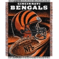 "Cincinnati Bengals NFL ""Spiral"" 48"" x 60"" Triple Woven Jacquard Throw"