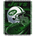 "New York Jets NFL ""Spiral"" 48"" x 60"" Triple Woven Jacquard Throw"