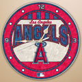 "Los Angeles Anaheim Angels MLB 12"" Round Art Glass Wall Clock"