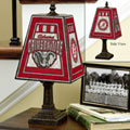 Alabama Crimson Tide NCAA College Art Glass Table Lamp