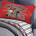 Tampa Bay Buccaneers Twin Size Pinstripe Sheet Set
