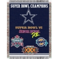 "Dallas Cowboys NFL ""Commemorative"" 48"" x 60"" Tapestry Throw"